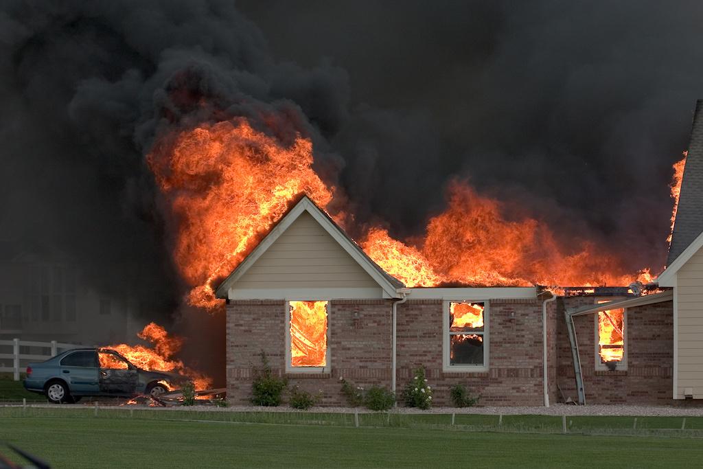 火事で金庫も被害に